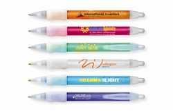 Promotional WideBody® BIC® Clear Ballpoint w-Ice Trim