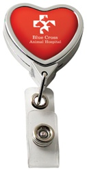 Custom Chrome Heart Logo Badge Reel
