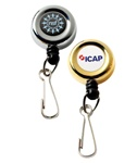 Personalized Gold Solid Metal Badge Reel
