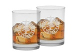 Custom Deep Etch Set of Old Fashion Two Glasses