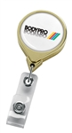 Promotional Round Badge Logo Reel w-Gold Finish