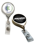 Promotional Chrome Printed Jumbo Round Badge Reel