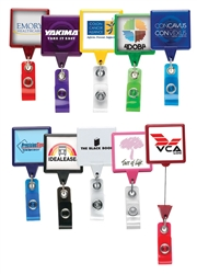 Personalized Square Badge JUMBO Reel w-Logo
