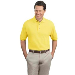 Personalized Pique Knit Men's Polo