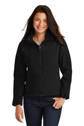 PA Ladies Textured Hooded Soft Shell Jacket