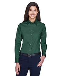 Ladies Easy Blend Long Sleeve Button Down Shirt
