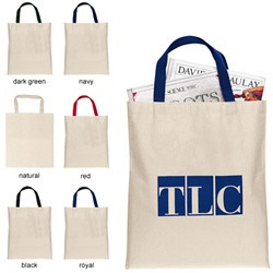 Custom Bargain Canvas Imprinted Tote Bag
