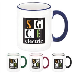 Promotional Two-Tone Coffee Mug 12oz