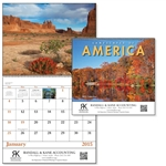 Custom Landscapes Imprinted Spiral Calendar