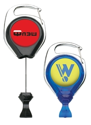 Customizable No Twsit Badge Reel with Carabiner
