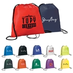 Custom Evergreen Drawstring Logo Backpack