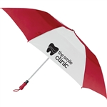 "Logo 55"" Vented Auto Open Folding Golf Umbrella - closeout"