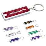Custom Rectangular Keychain with White LED Light