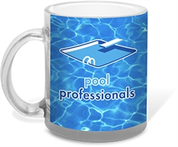 Personalized Logo Glass Mug 11 oz