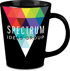 Promotional Black Short Latte Mug 12oz