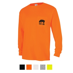 Screenprinted Magnum Weight™ Delta® Long Sleeve Adult Pocket Tee