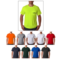 Screenprinted Jerzees® Heavyweight Blend™ Adult Pocket T-Shirt