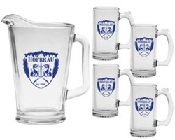 Custom Set of Pitcher and Four Mugs