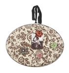 Chocolate Floral Cork Memo Hoop