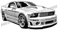 '06 ford mustang gt 3/4 view clip art