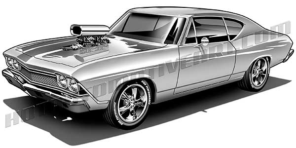 1969 Chevelle Clip Art Buy Two Images Get One Image Free
