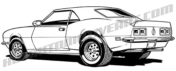 royalty free1968 chevy camaro muscle car clipart rh hotautomotiveart com muscle car clipart vector