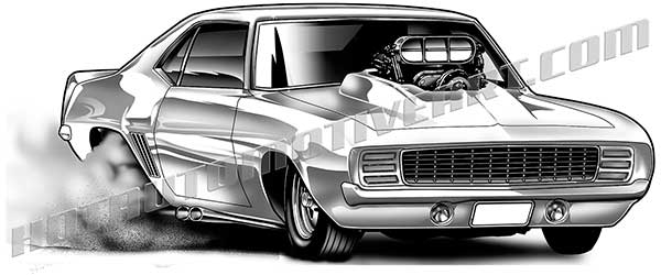 1969 Chevrolet Camaro clip art, buy two images, get one ...