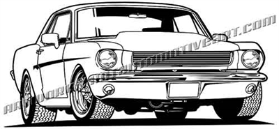 1965 ford mustang clip art