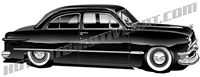 49 ford coupe clipart side view