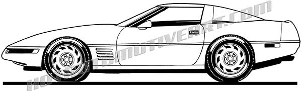90's Sports Car Side View - JPEG - VALUE IMAGE - $10 00