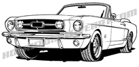 1965 ford mustang convertible clip art
