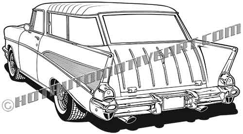 1957 chevy nomad clipart  buy two images  get one image free