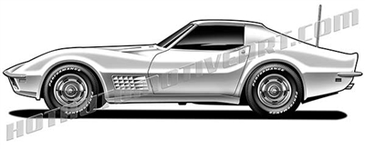 1968 chevy corvette clip art side view
