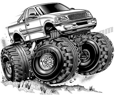 2002 ford f-150 cartoon 4x4 clip art