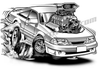 1989 ford mustang cartoon clip art