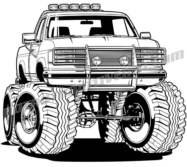 1996 Ford F 150 4x4 Pickup Truck Vector Clip Art Buy Two