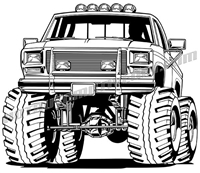 1985 ford off road pickup truck clip art