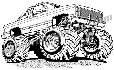 1982 chevy 4x4 truck vector clip art