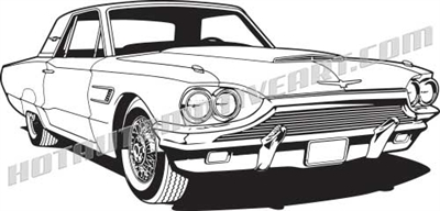 1964 ford thunderbird clip art side 3/4 view