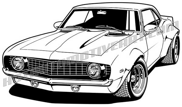 1969 Camaro Cartoon Clip Art Buy Two Images Get One Image Free