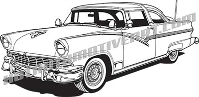 1956 ford crown victoria clip art side 3/4 view