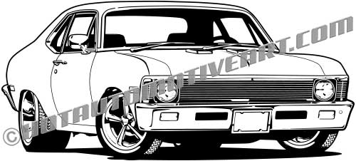 1969 Chevy Nova Vector Clip Art Buy Two Images Get One