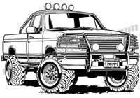 1994 ford f-150 off road truck clip art