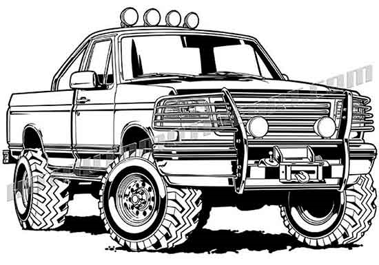 1994 ford f 150 off road pickup truck clip art buy two images get alternative views freerunsca Choice Image