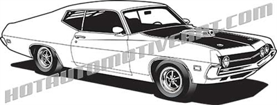1970 ford torino clip art side 3/4 view