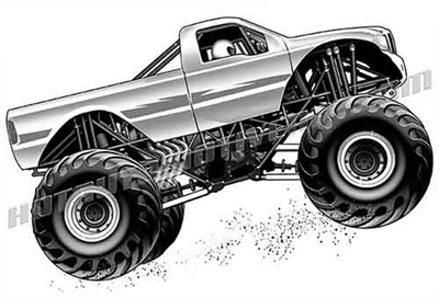 ford monster truck clip art side view