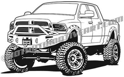 Dodge off road truck clip art
