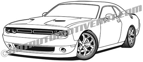 2016 dodge challenger hemi clip art high quality  buy two