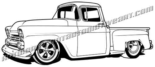 1958 Chevy Pickup Truck Buy Two Images Get A Third Image Free