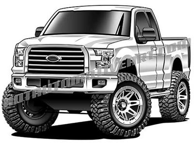 2017 ford F-150 lifted truck clip art